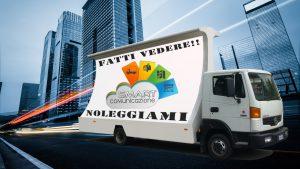 pubblicità dinamica con camion vela manifesto 6x3