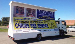 pubblicità dinamica manifesto 6x3 camion vela